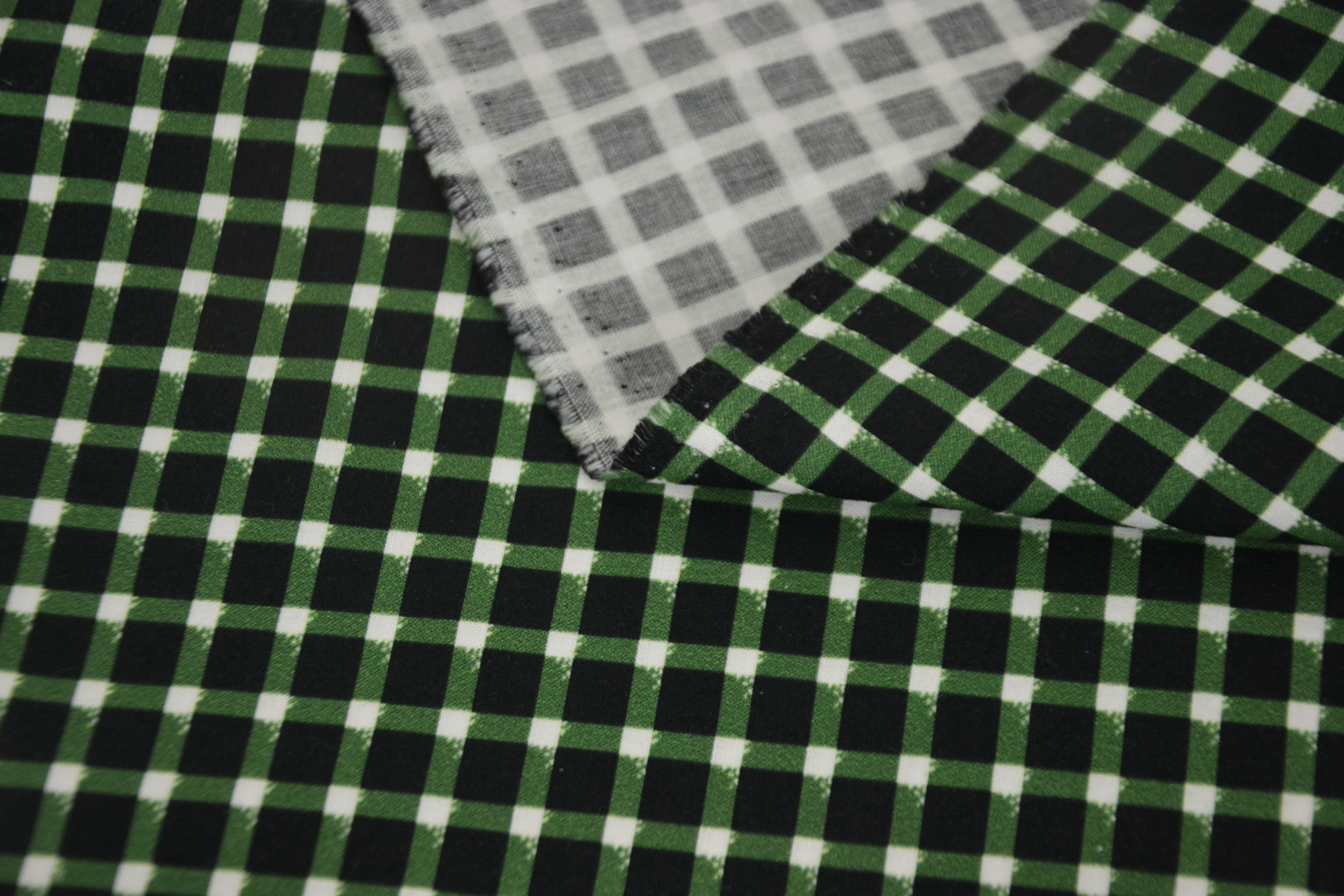 Kalmuck Baumwolldruck grün