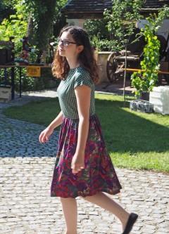 Wachaukaro grün- Kleidchen